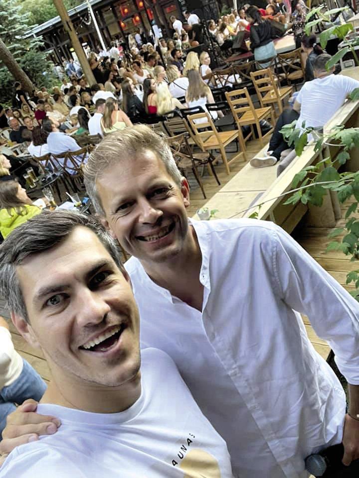 Justinas Jankevičius ir Andrius Tapinas.<br>Socialinio tinklo nuotr.