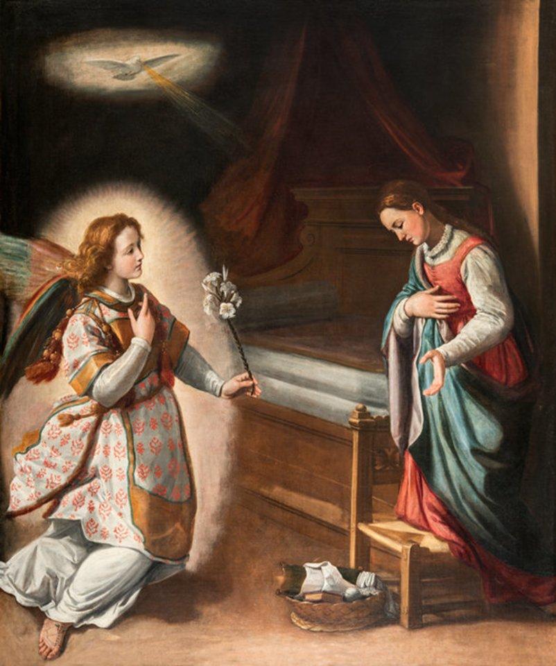 Santi di Tito(1536-1603 m.). Viešpaties Apreiškimas Švč. Mergelei Marijai.
