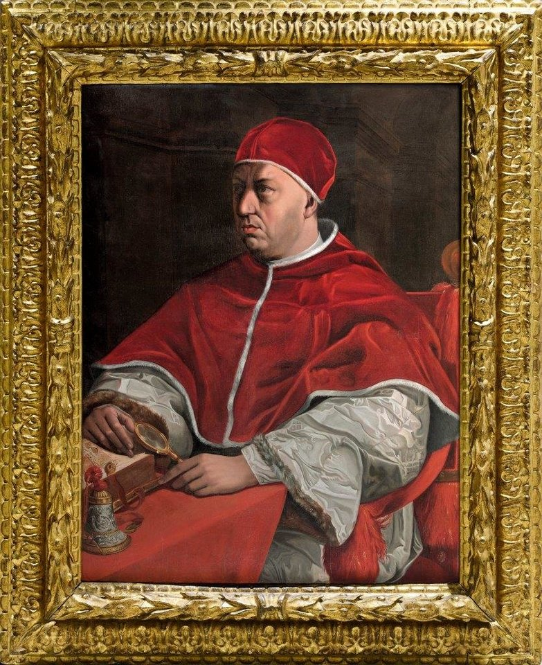 J.del Conte (1515-1598 m). Leono X portretas (aliejus ant medžio).