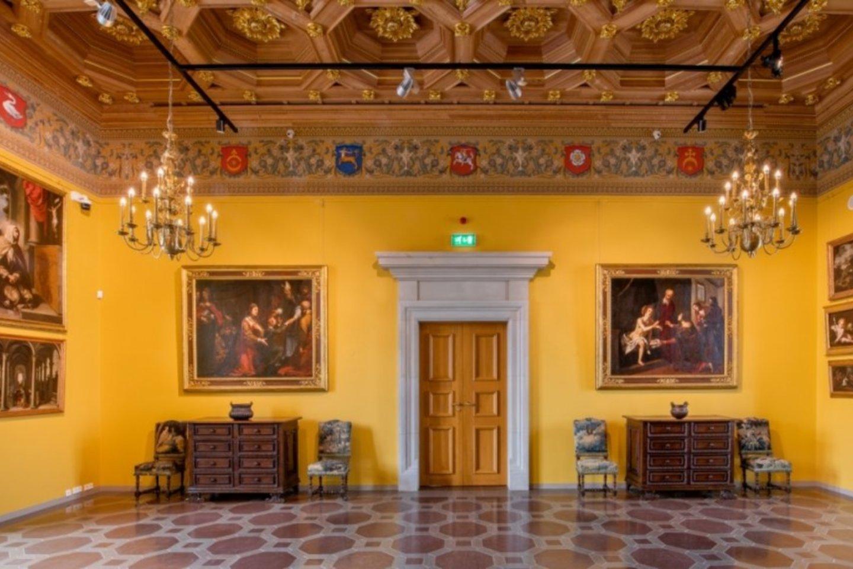 Prano Kiznio paveikslų galerija Valdovų rūmuose.<br>M.Kaminsko nuotr.