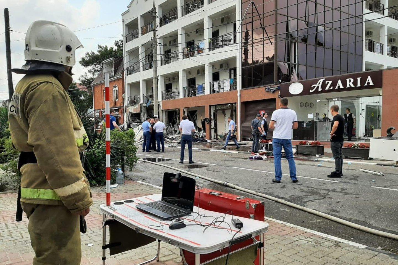 Rusijos Juodosios jūros kurorte per sprogimą viešbutyje žuvo du žmonės, keletas sužeista. <br>TASS/Scanpix nuotr.