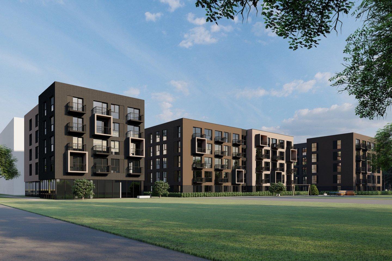 """Planuojami trys penkiaaukščiai, kuriuose įmonė miesto gyventojams pasiūlys iki 130 butų .<br>""""Citus"""" vizual."""