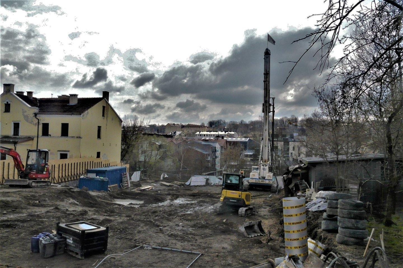 Statybų procesai Vilniaus senamiestyje neramina tiek specialistus, tiek aktyvią visuomenę.<br>Gyčio Oržikausko nuotr.