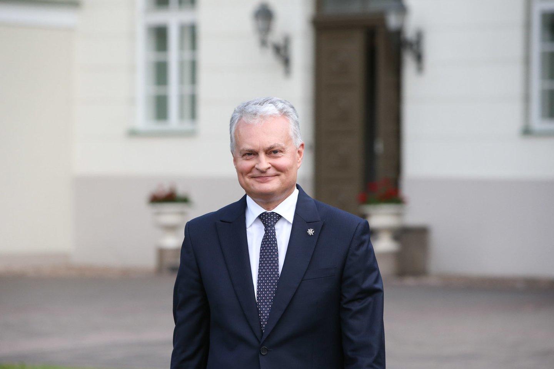 Metinė prezidento G.Nausėdos spaudos konferencija.<br>R.Danisevičiaus nuotr.