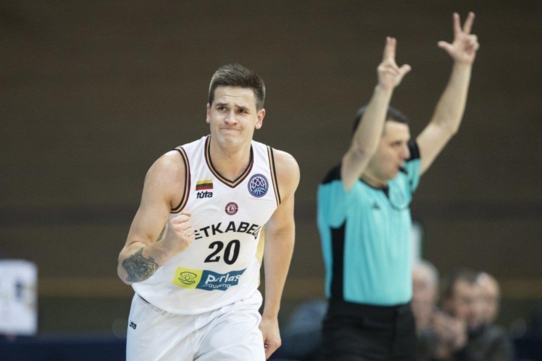 Margiris Normantas patenkintas savo žaidimu.<br>FIBA.com nuotr.