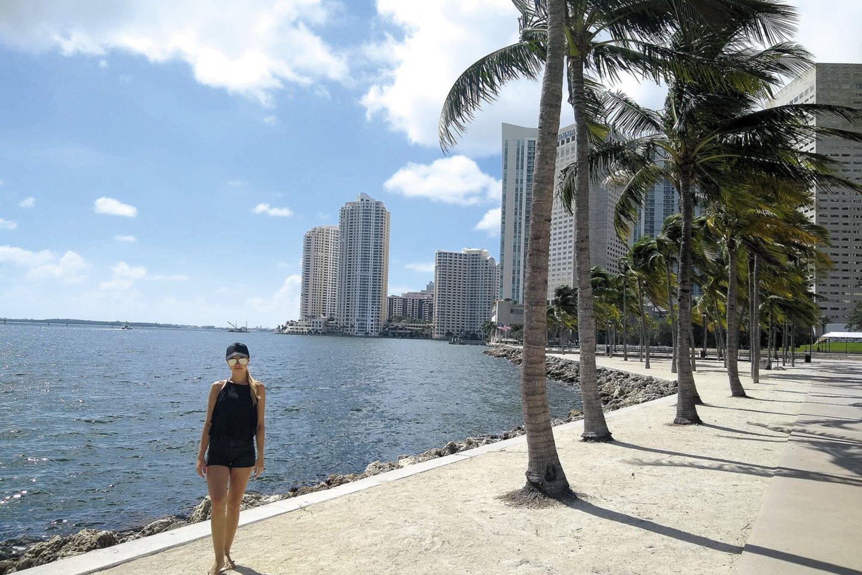 Pasak Liucijos, per pandemiją Majamyje žmonės pradėjo labiau vertinti laiką, praleidžiamą lauke.<br>Nuotr. iš asmeninio albumo