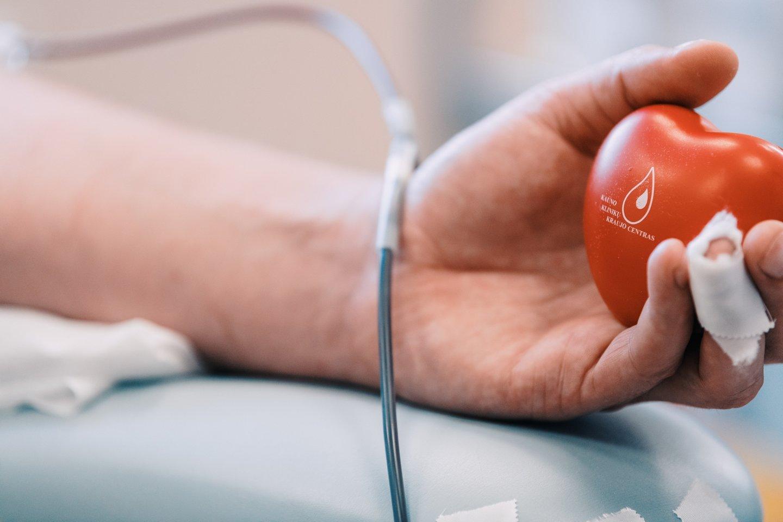 """Vilniaus universiteto ligoninės Santaros klinikų kraujo centre vyksta jau tradicija tapęs renginys """"Tu – mano viltis"""", kuris tęsis iki liepos 24 dienos.<br>Kauno klinikų nuotr."""