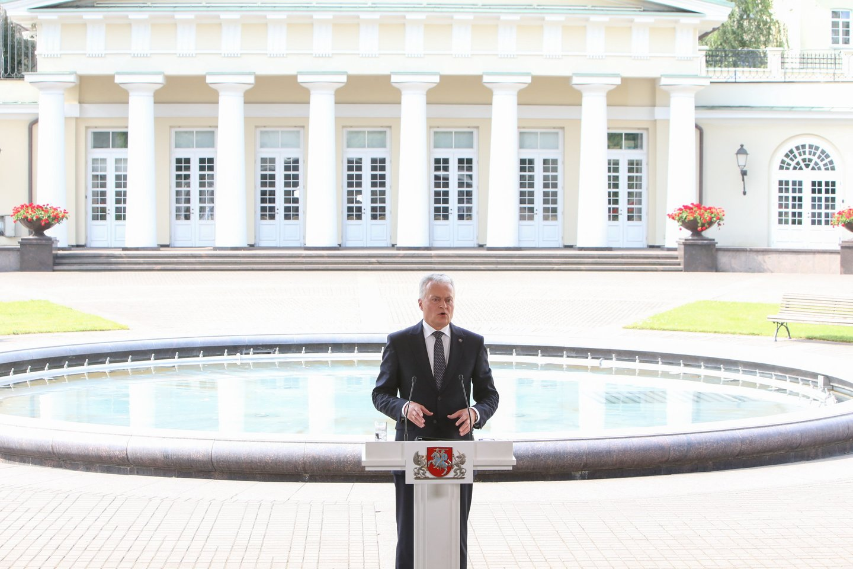 Šalies vadovas Gitanas Nausėda.<br>R.Danisevičiaus nuotr.