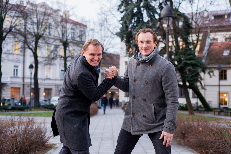 Liudas Mikalauskas ir Egidijus Bavikinas.<br>J.Stacevičiaus nuotr.