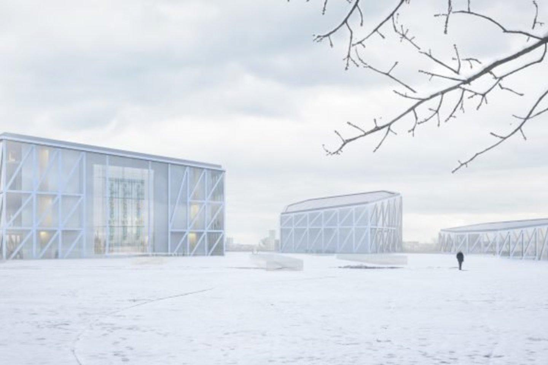 """""""Tautos namų"""" konkurso nugalėtojai – """"Arquivio Architects"""".<br>Vizual."""