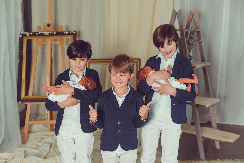 "Šeimoje – net penki berniukai.<br>""Studio Smile"" nuotr."