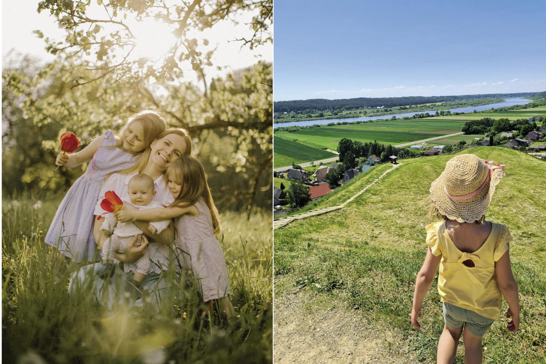 Su vyru Vidu ir trimis vaikais keliaujanti moteris šį kartą dalijasi Panemunės kelio maršrutu, kuris patiko ir mažosioms.<br>lrytas.lt koliažas