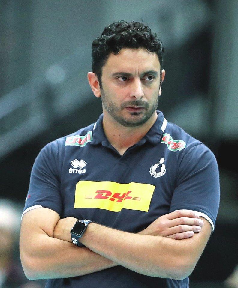 Italijos rinktinės treneris Davide Mazzanti<br>F.Cucchetti nuotr.