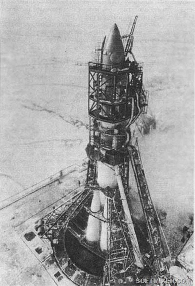 """Kosminis laivas """"Vostok""""."""