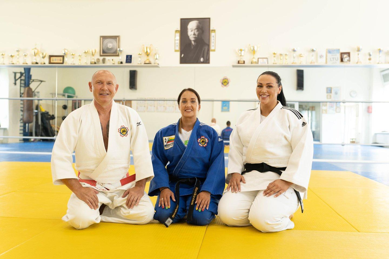 Danguolė Novikovienė, Vigmantas Sinkevičius ir Sandra Jablonskytė.<br>judo.lt nuotr.