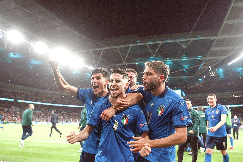 """""""Euro 2020"""" finalas pranoko lemiamas Lietuvos krepšinio rinktinės rungtynes.<br>Scanpix nuotr."""