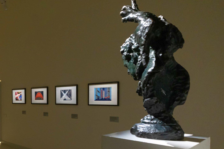 Aleksandros Ekster ir Aleksandro Archipenko darbų parodoje.<br>G .Grigėnaitės, LNDM nuotr.