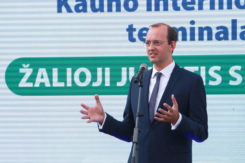 Susisiekimo ministras Mindaugas Skuodis.<br>G.Bitvinsko nuotr.