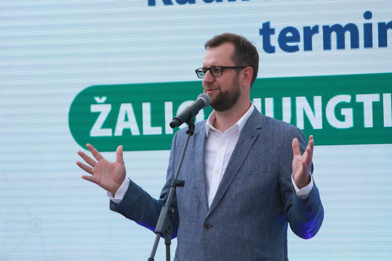 """""""Lietuvos geležinkelių"""" vadovas Mantas Bartuška.<br>G.Bitvinsko nuotr."""