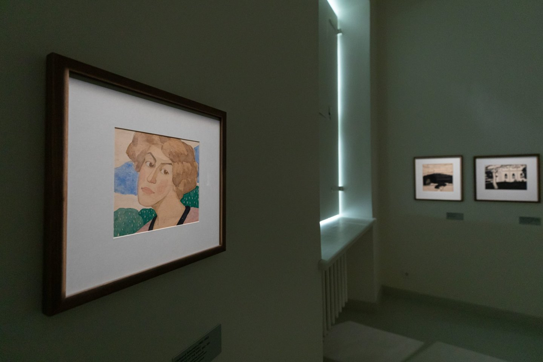 Oleksandro Bohomazovo parodoje.<br>G .Grigėnaitės, LNDM nuotr.
