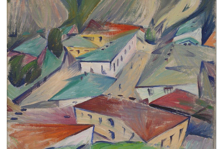 "Oleksandras Bohomazovas. ""Miesto peizažas. Hončarai"". 1927‒1928<br>UNDM nuotr."
