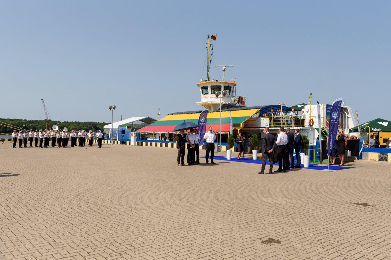 Klaipėdos kruizinių laivų terminale.<br>A.Kubaičio nuotr.