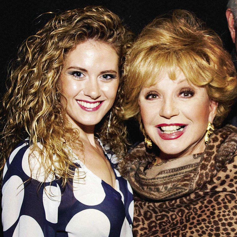Milda labai vertina savo pažintį su lietuvių kilmės amerikiečių aktore Rūta Lee.<br>Asmeninio albumo nuotr.