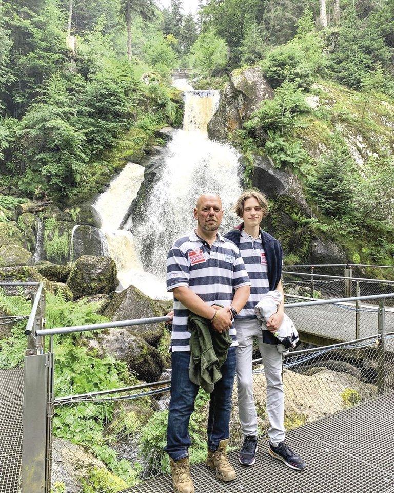G.Liaudanskas su sūnumi.<br>Asmeninio albumo nuotr.