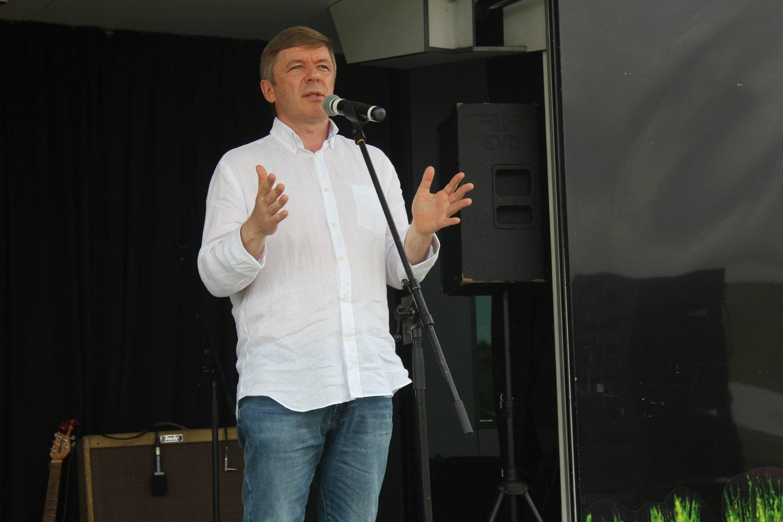 R.Karbauskio vadovaujamos Lietuvos valstiečių ir žaliųjų sąjungos suvažiavimas.<br>R.Vitkaus nuotr.