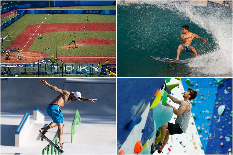 Tokijo žaidynėse bus ir naujų sporto šakų, ir sugrįžtančių.<br>lrytas.lt koliažas.
