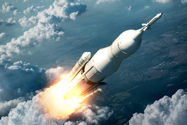 Rusijoje skrydžius į kosmosą monopolizavusi valstybė, o kitose šalyse tuo puikiausiai užsiima privačios įmonės.<br>123rf iliustr.