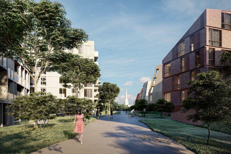 Klaipėdos centrinėje dalyje, į rytus nuo Senamiesčio, greta Jono kalnelio ir buvusio bastiono, sklypuose Gluosnių g. 1 ir Gluosnių g. 11 projektuojamas daugiabučių gyvenamųjų namų kompleksas.<br>Vizual.