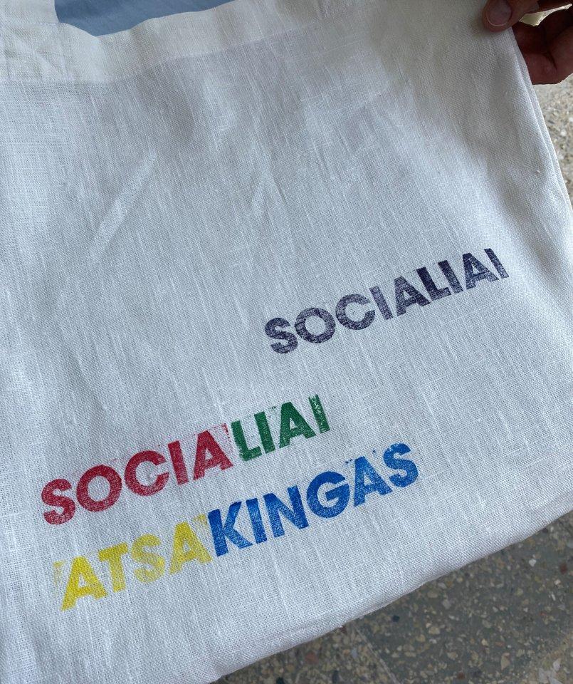 """Renginio """"Socialiai atsakingas"""" akimirkos.<br>Organizatorių nuotr."""