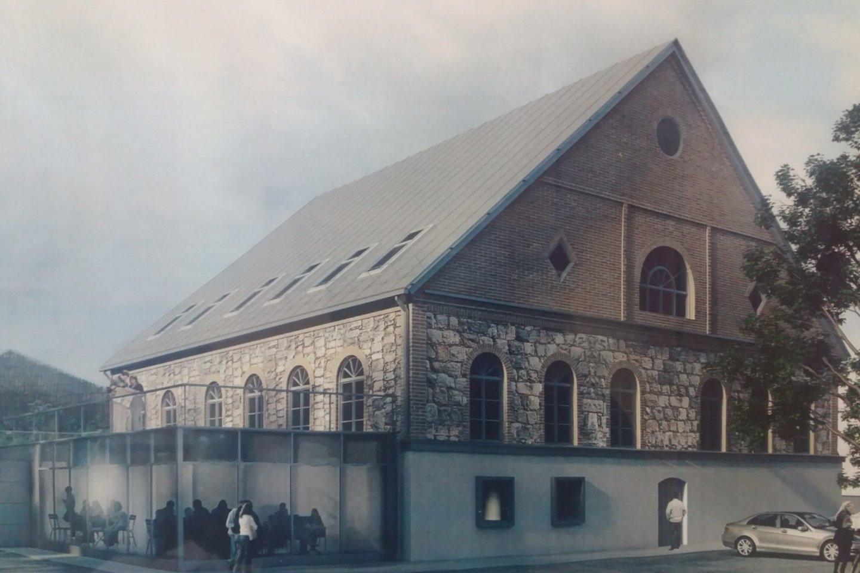 Buvusi žydų sinagoga.