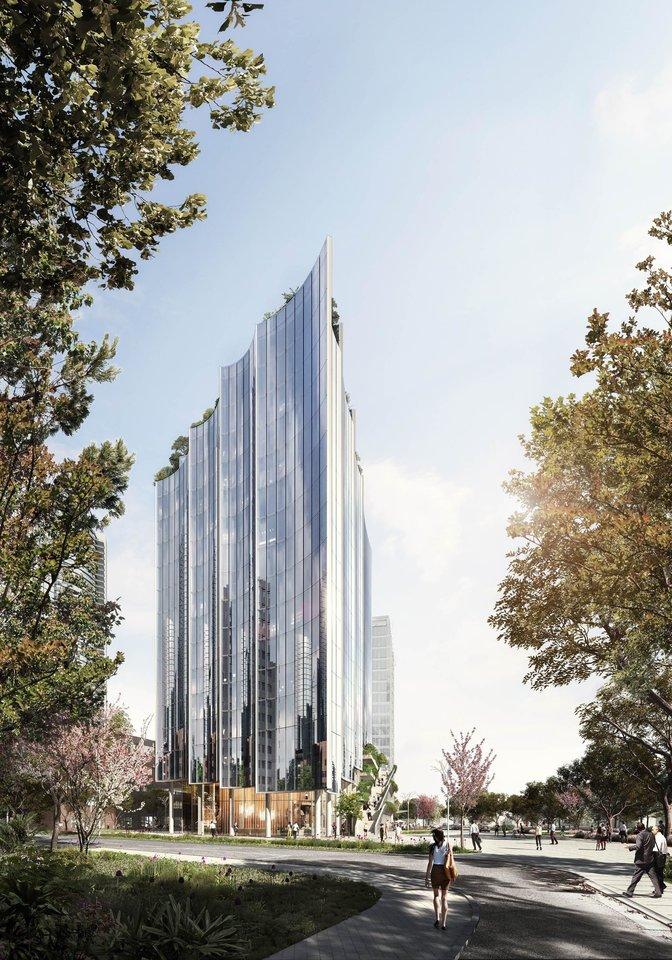 Vokietijos architektų ir SWECO pasiūlymas.<br>Vizual.