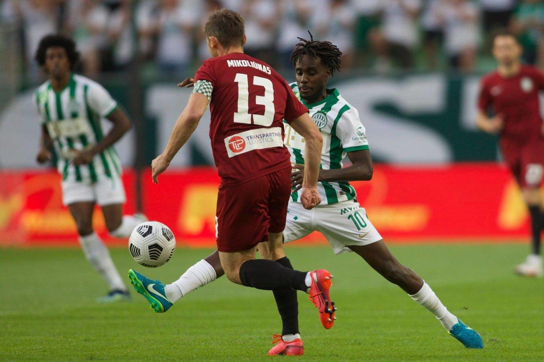 """Vilniečiai nusileido """"Ferencvaros"""" ekipai 0:2.<br>""""Ferencvaros"""" nuotr."""