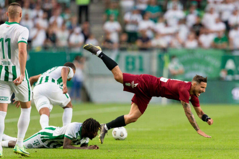 """Vilniečiai nusileido """"Ferencvaros"""" ekipai 0:2.<br>E.Žaldario nuotr."""