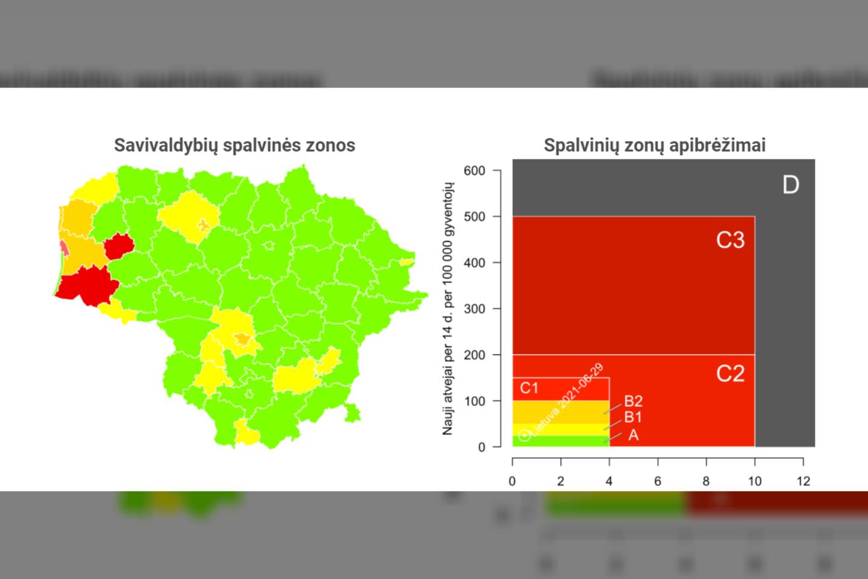 Lietuvos sergamumo žemėlapyje šią savaitę paraudonavo trys savivaldybės.