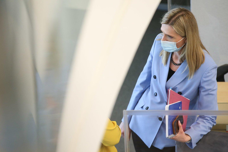 """Ministrė Agnė Bilotaitė tikina, kad tai reikalinga norint turėti patikimus duomenis ir juos """"naudoti sprendimų priėmimui"""".<br>R.Danisevičiaus nuotr."""