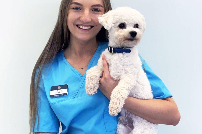 """Pasak klinikos """"PetCity"""" veterinarijos gydytojos Rugilės Ivoškaitės, augintinius nuo karščio reikia saugoti ypatingai, nes jo poveikis šunims ir kitiems naminiams gyvūnams juntamas netgi greičiau nei žmonėms.<br>Pranešimo spaudai nuotr."""