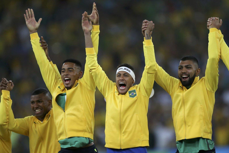 2016-ųjų Rio olimpinių žaidynių futbolo čempionais tapo brazilai.<br>Reuters/Scanpix nuotr.