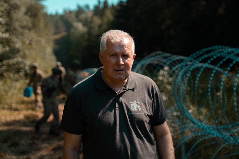 Pabradėje apsilankęs A. Anušauskas: Vokietija, kaip NATO gynybos garantas, lieka ilgam.<br>Ministerijos nuotr.