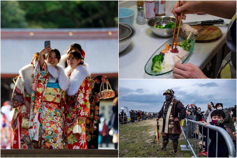 Japonija Tokijo olimpinėse žaidynėse prarado progą tinkamai pristatyti savo kultūrą, o svečiai pajusti japonišką dvasią.<br>AP/Scanpix nuotr. koliažas.