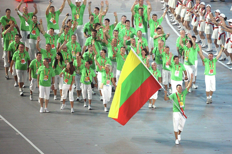 Į 2008 m. Pekino žaidynes Lietuva nusiuntė didžiausią delegaciją – 71 atletą.<br>Nuotr. iš LR archyvo