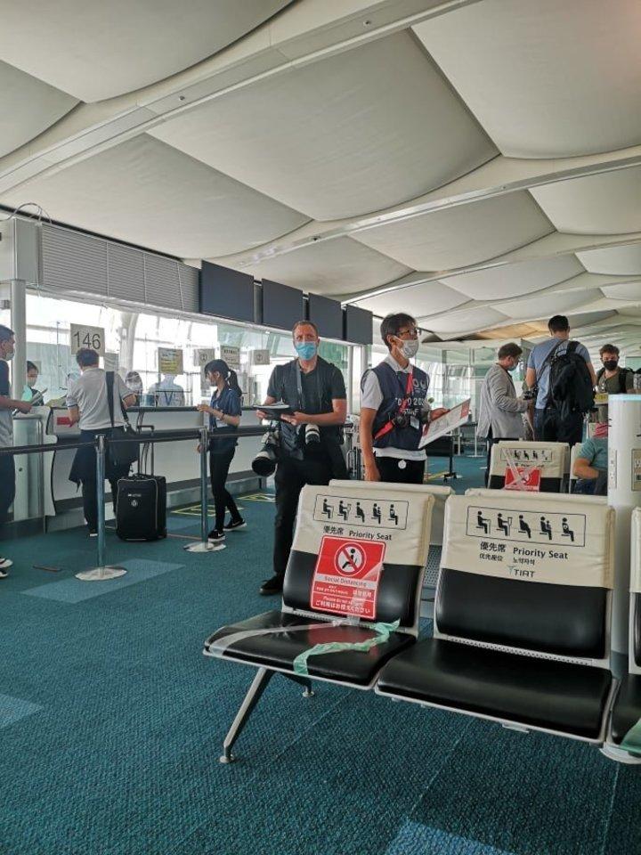 Patikros vietos Tokijo Hanedos oro uoste.<br>M.Suslavičiaus nuotr.