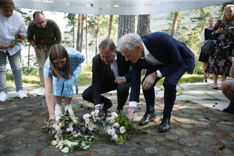Norvegija mini 10-ąsias ultradešiniųjų ekstremisto žudynių metines.<br>AP/Scanpix nuotr.