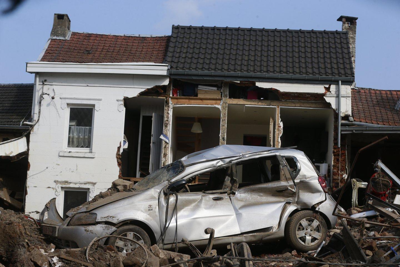 Potvyniai Belgijoje.<br>EPA-ELTA nuotr.