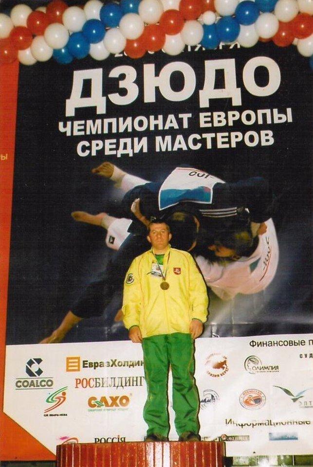 Petras Ponomariovas– tituluočiausias Lietuvos dziudo meistras.<br>LDF nuotr.