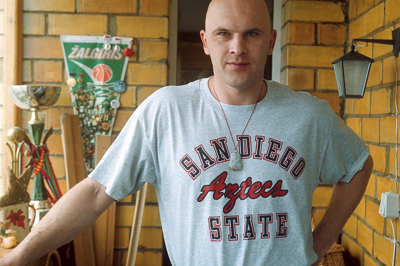 Krepšininkas Darius Sirtautas 2002 m.<br>LR archyvo nuotr.