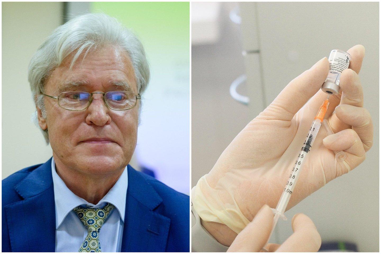 J. Kalibatas ragina netikėti dezinformacija nukreipta prieš vakcinas nuo COVID-19.<br>lrytas.lt ir E.Paukštės/NVI nuotr. koliažas